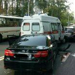 Попал в «03»: В Воронеже иномарка врезалась в машину «Скорой помощи», есть пострадавшие