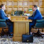 Ждем утверждения?: И. о. главы Хохольского района рассказал воронежскому губернатору о приоритетах