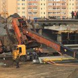 Приуныл?: При строительстве развязки в Воронеже рухнул кран